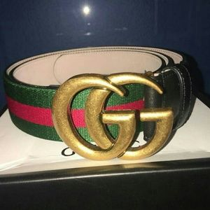 European Stylish Double G Buckle Gucci belt